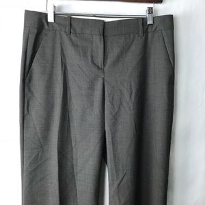 Theory emery wide leg pants trouser wool brown 8